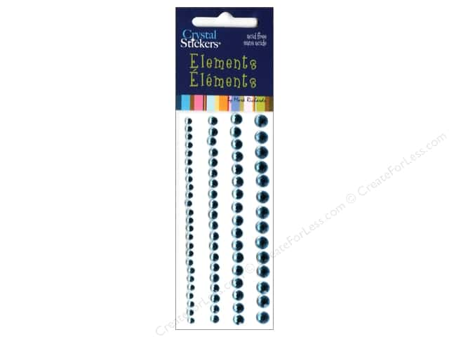 Mark Richards Crystal Stickers Round Light Blue 3 to 6 mm