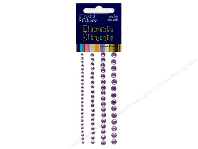 Mark Richards Crystal Stickers Round Lavender 3 to 6 mm