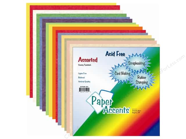 Cardstock Variety Pack 12 x 12 in. Assorted 20 pc. by Paper Accents