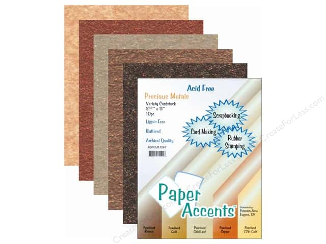 Cardstock Variety Pack 8 1/2 x 11 in. Precious Metals 10 pc. by Paper Accents