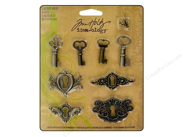 Tim Holtz Idea-ology Locket Keys 8 pc.