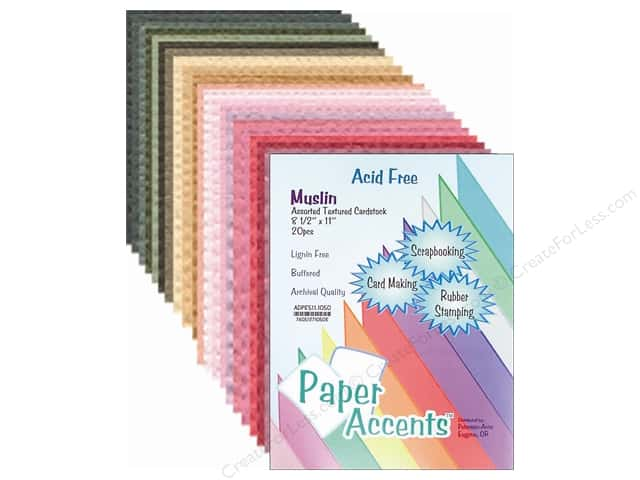 Cardstock Variety Pack 8 1/2 x 11 in. Assorted Muslin 20 pc. by Paper Accents