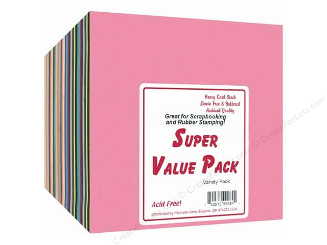 Cardstock Super Value Variety Pack by Paper Accents 6 x 6 in. 300 pc.