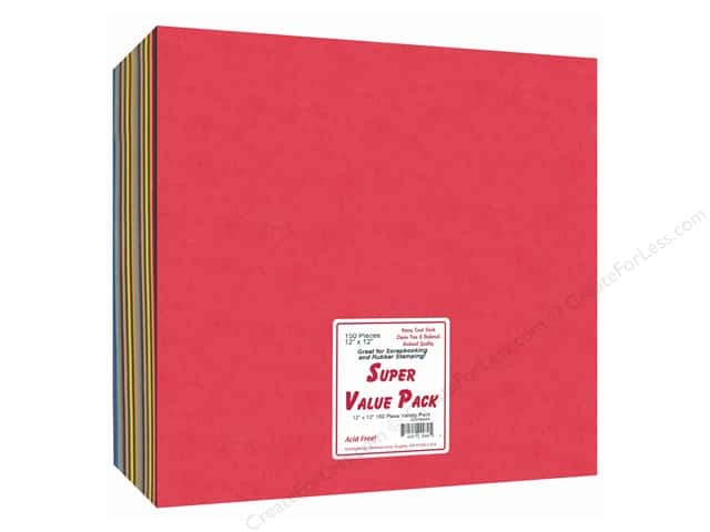 Cardstock Super Value Variety Pack by Paper Accents 12 x 12 in. 150 pc.
