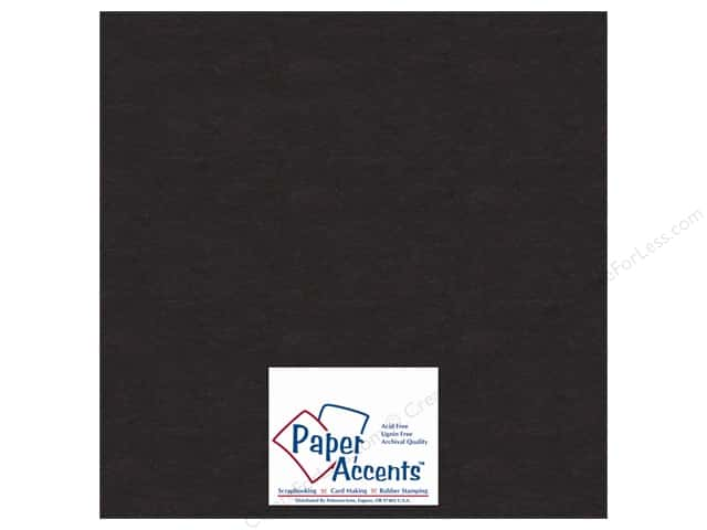 Paper Accents Chipboard 12 x 12 in. 50 pt. Extra Heavy Black (25 sheets)
