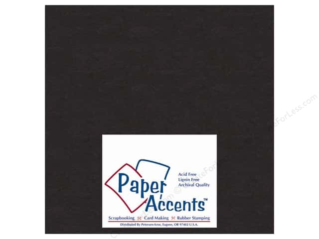 Paper Accents Chipboard 4 x 4 in. 50 pt. Extra Heavy Black