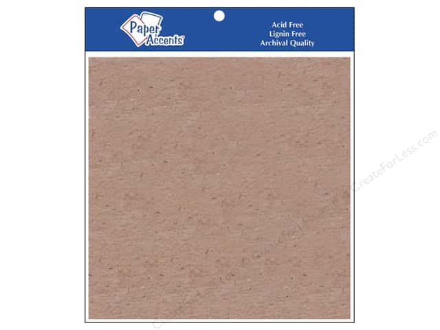 Paper Accents Chipboard 6 x 6 in. 52 pt. Extra Heavy Natural 2 pc.