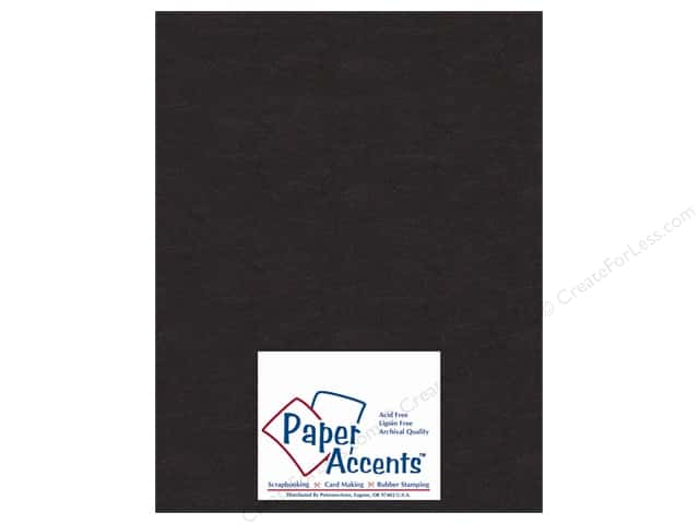 Paper Accents Chipboard 8 1/2 x 11 in. 50 pt. Extra Heavy Black (25 sheets)