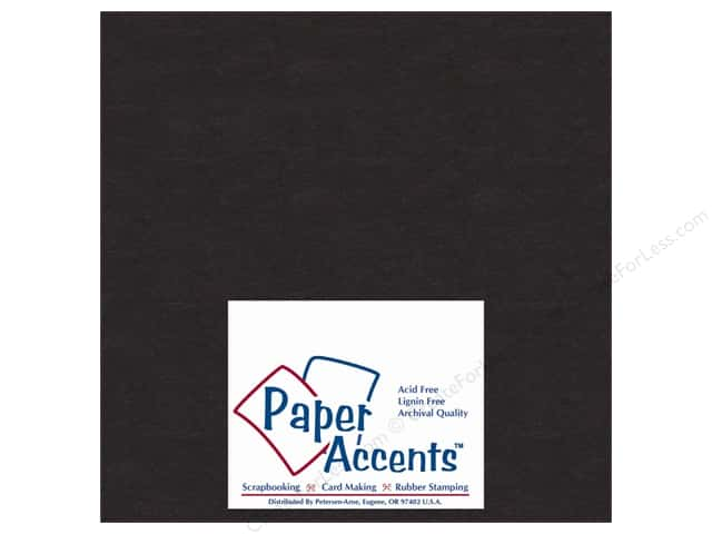 Paper Accents Chipboard 8 x 8 in. 50 pt. Extra Heavy Black (25 sheets)