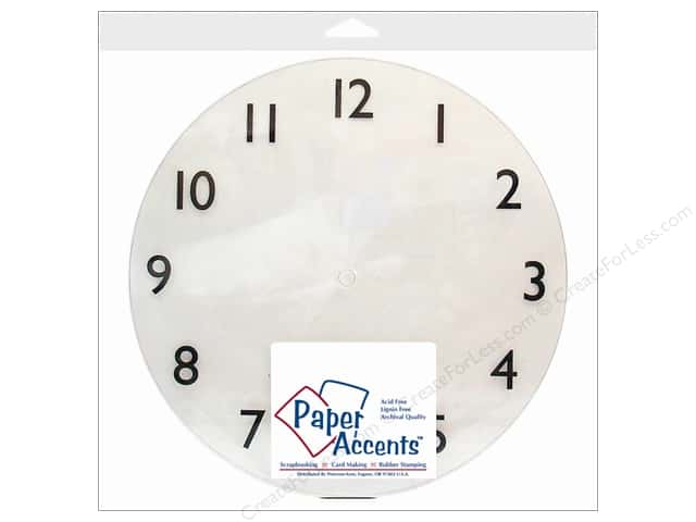 "Paper Accents Clock Faces 10 5/8"" 1-12 Clear Plastic 1pc"