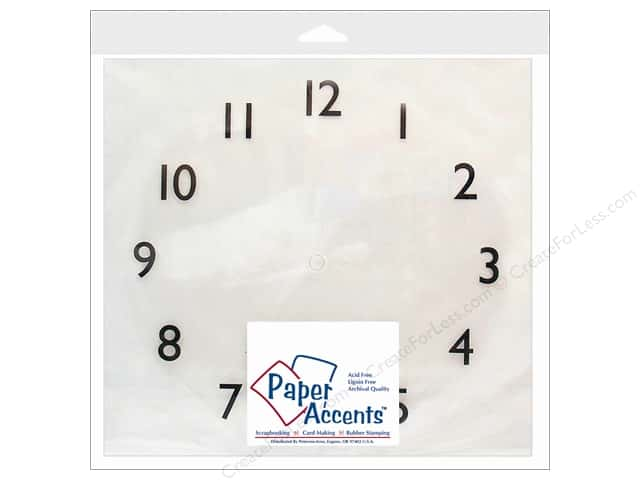 """Paper Accents Clock Faces Page 12""""x 12"""" 1-12 Clear Plastic 1pc"""