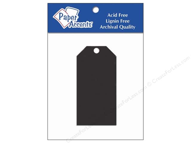 Craft Tags by Paper Accents 1 5/8 x 3 1/4 in. 20 pc. Black