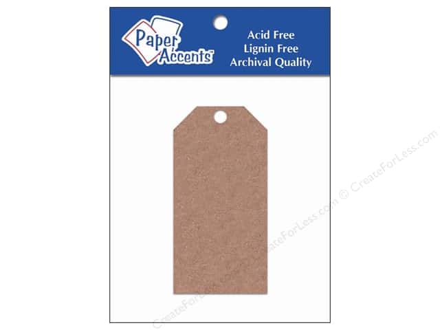Craft Tags by Paper Accents 1 5/8 x 3 1/4 in. 25 pc. Brown Bag