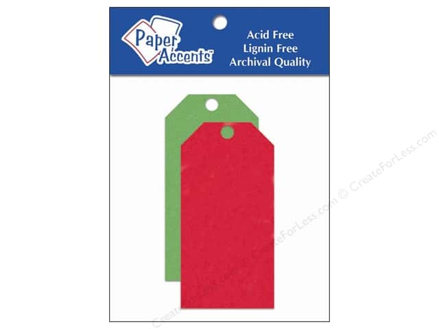 Craft Tags by Paper Accents 1 5/8 x 3 1/4 in. 25 pc. Christmas