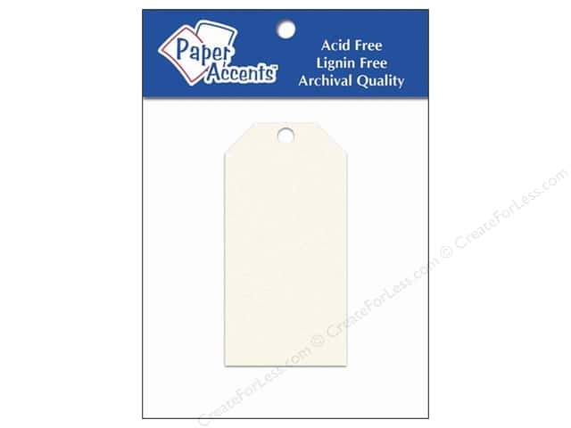 Craft Tags by Paper Accents 1 5/8 x 3 1/4 in. 25 pc. Cream