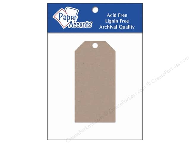 Craft Tags by Paper Accents 1 5/8 x 3 1/4 in. 25 pc. Kraft