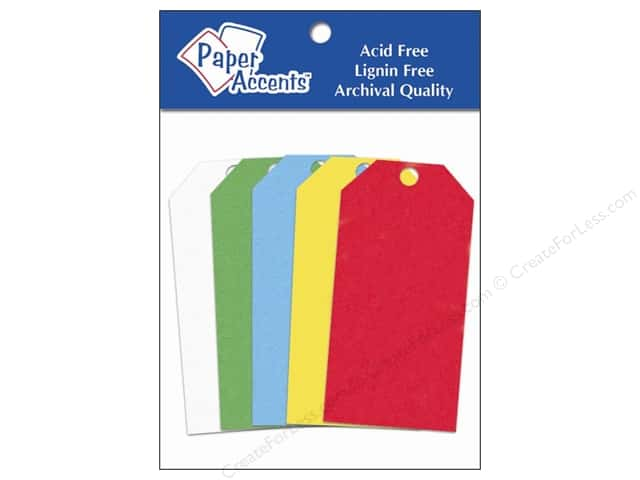 Craft Tags by Paper Accents 1 5/8 x 3 1/4 in. 25 pc. Primary