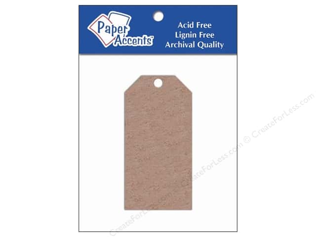 Craft Tags by Paper Accents 1 5/8 x 3 1/4 in. 5 pc. Chipboard