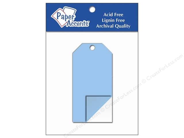 Craft Tags by Paper Accents 1 5/8 x 3 1/4 in. 5 pc. Clear Plastic
