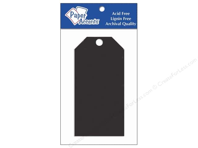 Craft Tags by Paper Accents 2 1/8 x 4 1/4 in. 20 pc. Black