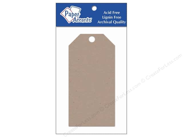 Craft Tags by Paper Accents 2 1/8 x 4 1/4 in. 25 pc. Kraft