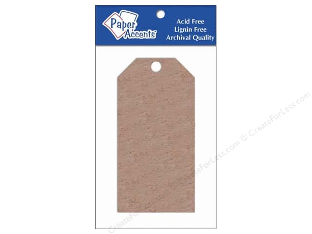 Craft Tags by Paper Accents 2 1/8 x 4 1/4 in. 5 pc. Chipboard
