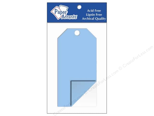 Craft Tags by Paper Accents 2 1/8 x 4 1/4 in. 5 pc. Clear Plastic
