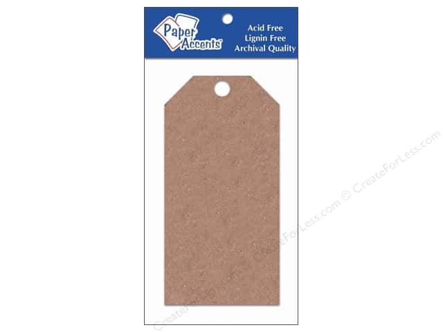 Craft Tags by Paper Accents 2 1/2 x 5 1/4 in. 25 pc. Brown Bag
