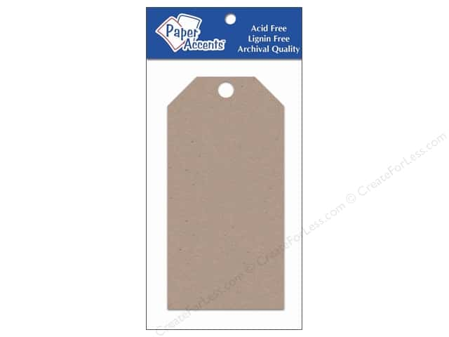 Craft Tags by Paper Accents 2 1/2 x 5 1/4 in. 25 pc.Kraft