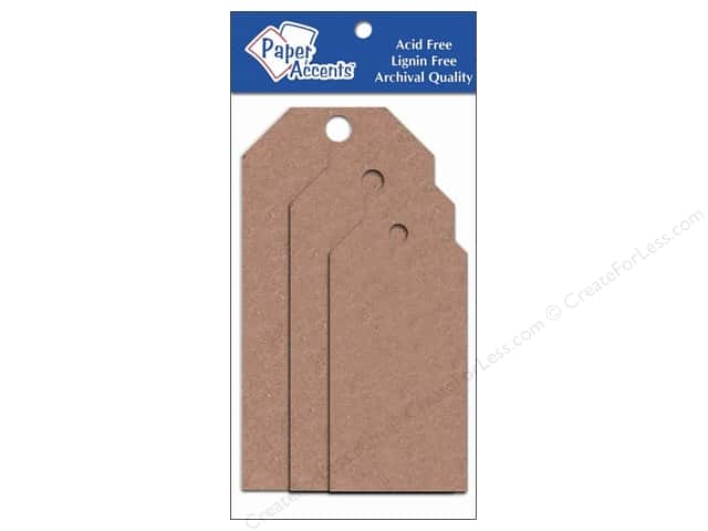 Craft Tags by Paper Accents Assorted 25 pc. Brown Bag
