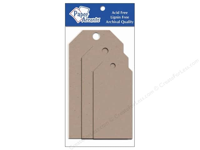 Craft Tags by Paper Accents Assorted 25 pc. Kraft