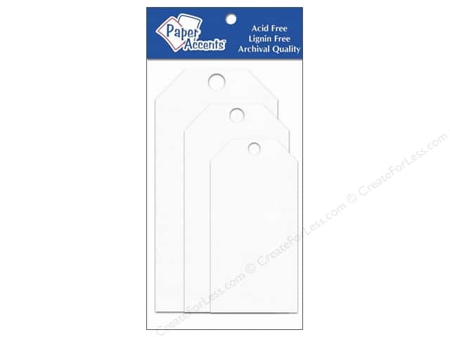 Craft Tags by Paper Accents Assorted  25 pc. White