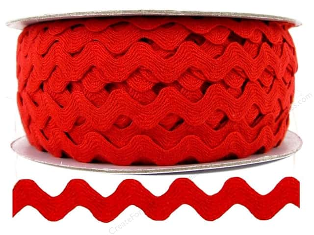 "Ric Rac by Cheep Trims  1/2"" Red (24 yards)"