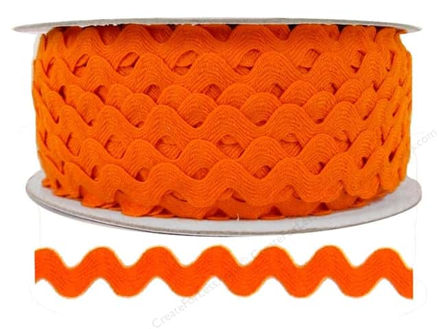 Cheep Trims Ric Rac 1/2 in. Orange