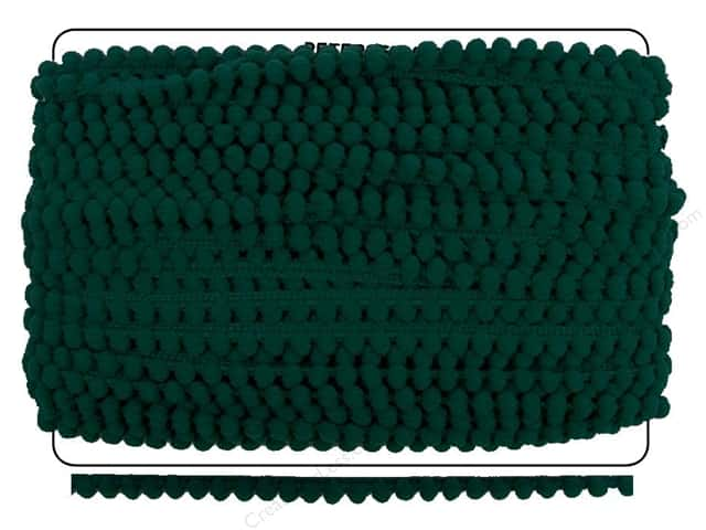 Pom Fringe by Cheep Trims 3/8 in. Emerald (36 yards)
