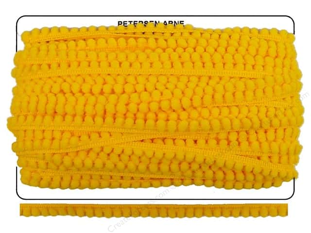 Pom Fringe by Cheep Trims 3/8 in. Lemon (36 yards)