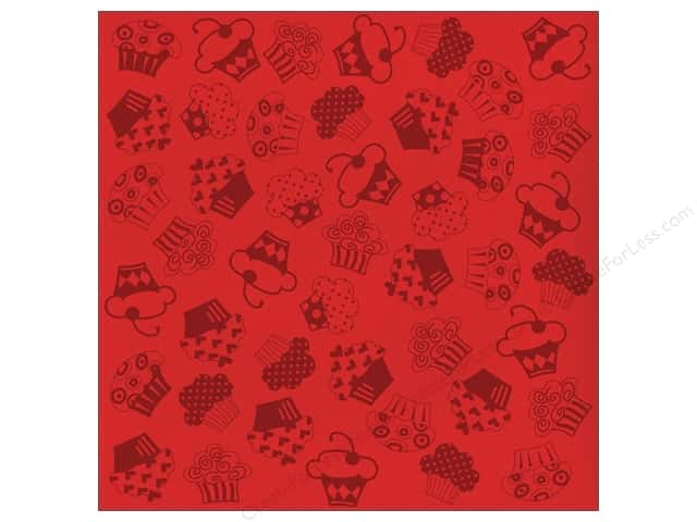 Bazzill 12 x 12 in. Cardstock Glazed #303462 Cupcake Berrylicous 15 pc.