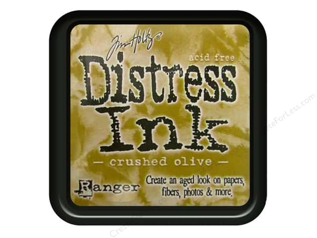 Tim Holtz Distress Ink Pad by Ranger Crushed Olive