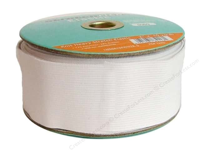 Stretchrite Knit Elastic Heavy Stretch 2 in. x 10 yd White (10 yards)
