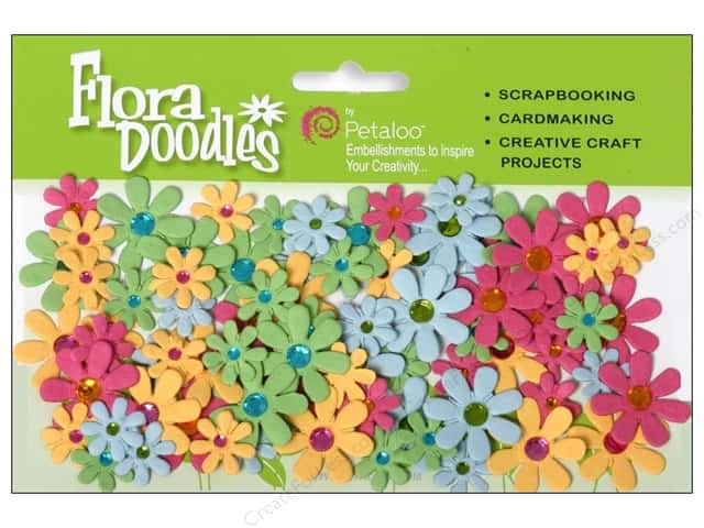 Petaloo FloraDoodles Jeweled Florettes Fuchsia/Green/Blue/Orange