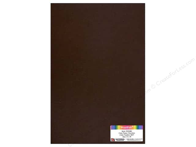 National Nonwovens WoolFelt 12 x 18 in. 35% Chocolate (10 sheets)