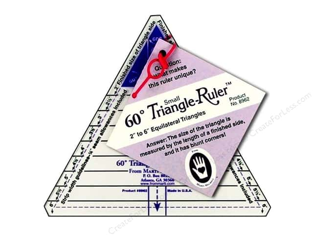 Marti Michell 60-degree Triangle Ruler - Small