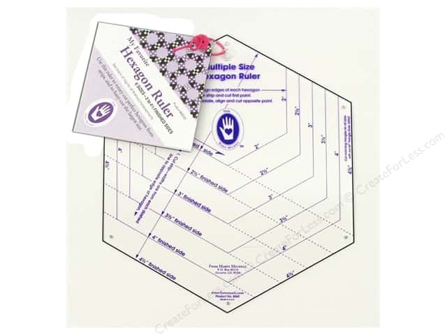 """Marti Michell Ruler My Favorite Hexagon 2"""" to 4.5"""""""