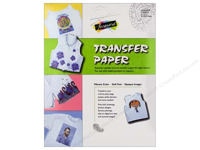 Jacquard Transfer Paper For Light Fabrics 3pc