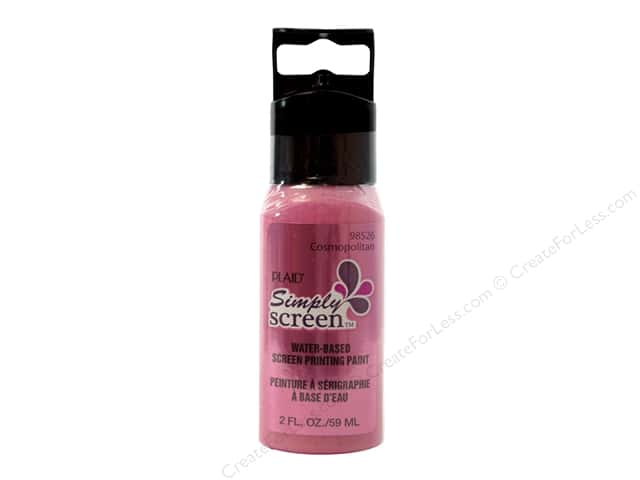 Plaid Simply Screen Paint 2 oz. Cosmopolitan