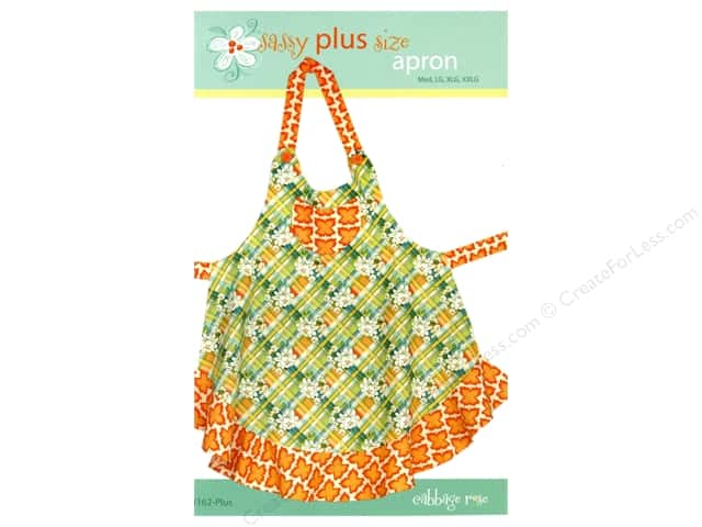 Cabbage Rose Sassy Plus Size Apron Pattern