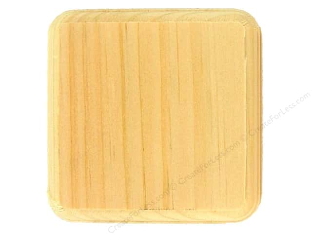 Walnut Hollow Pine Plaque Square 4 x 4 in.