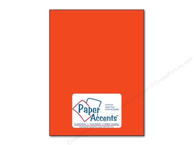 Cardstock 8 1/2 x 11 in. #91 Smooth Construction Orange by Paper Accents (25 sheets)