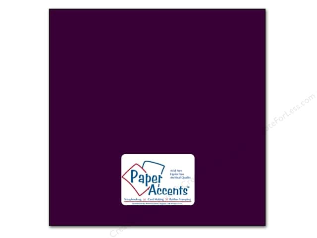Cardstock 12 x 12 in. #88 Smooth Grape Slushie by Paper Accents (25 sheets)