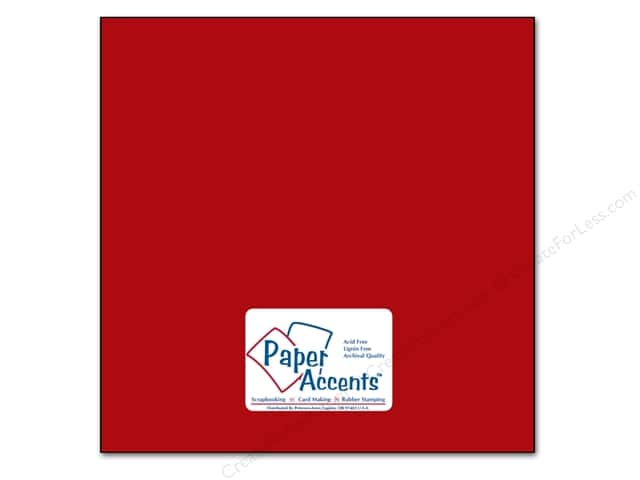 Cardstock 12 x 12 in. #89 Smooth Schoolhouse Red by Paper Accents (25 sheets)
